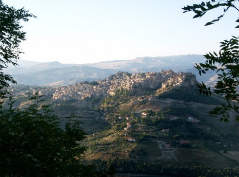 Enna, vista panoramica di Calascibbetta