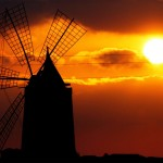 Trapani, mulino al tramonto