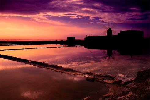 Tramonto sul mare di Trapani - Foto di Wagman