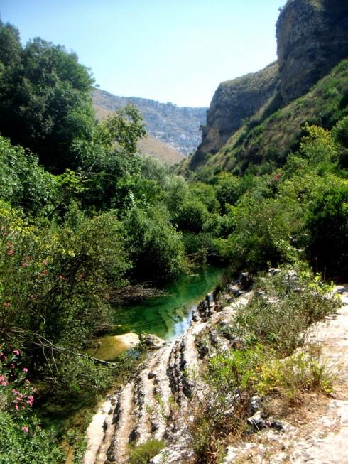 Cava Grande, pareti del canyon