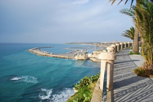 Panorama del mare di Sciacca