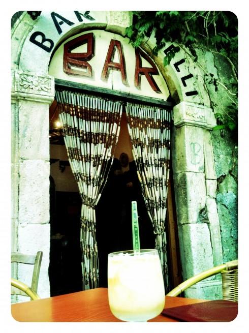 Granita allo Zibibbo al Bar Vitelli
