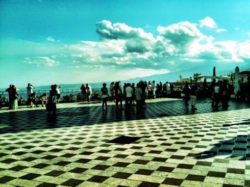 Terrazza belvedere di Taormina
