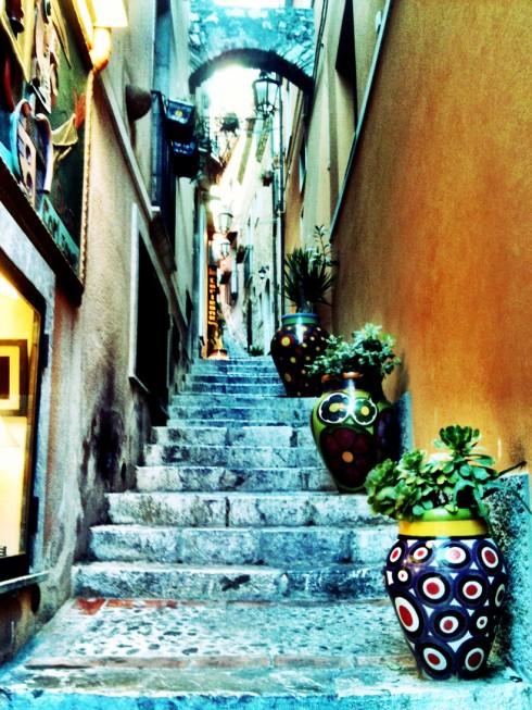 Scalinate dei vicoli di Taormina