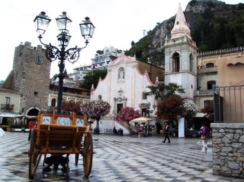 Taormina, la piazza centrale