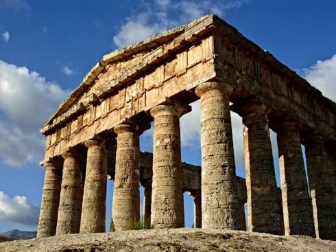 Tempio di Segesta, facciata