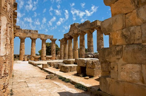 Interno del Tempio di Hera