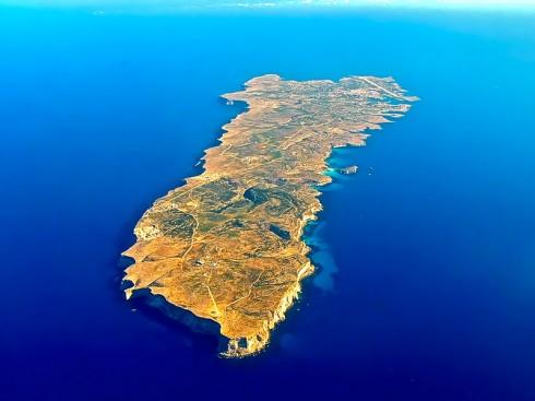 Lampedusa vista dall