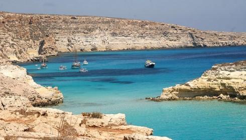 Lampedusa, il mare cristallino